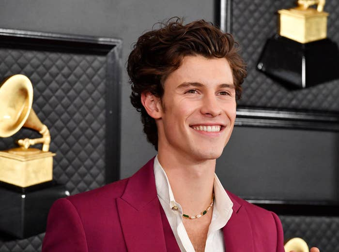 Shawn Mendes attends the 2020 GRAMMY Awards