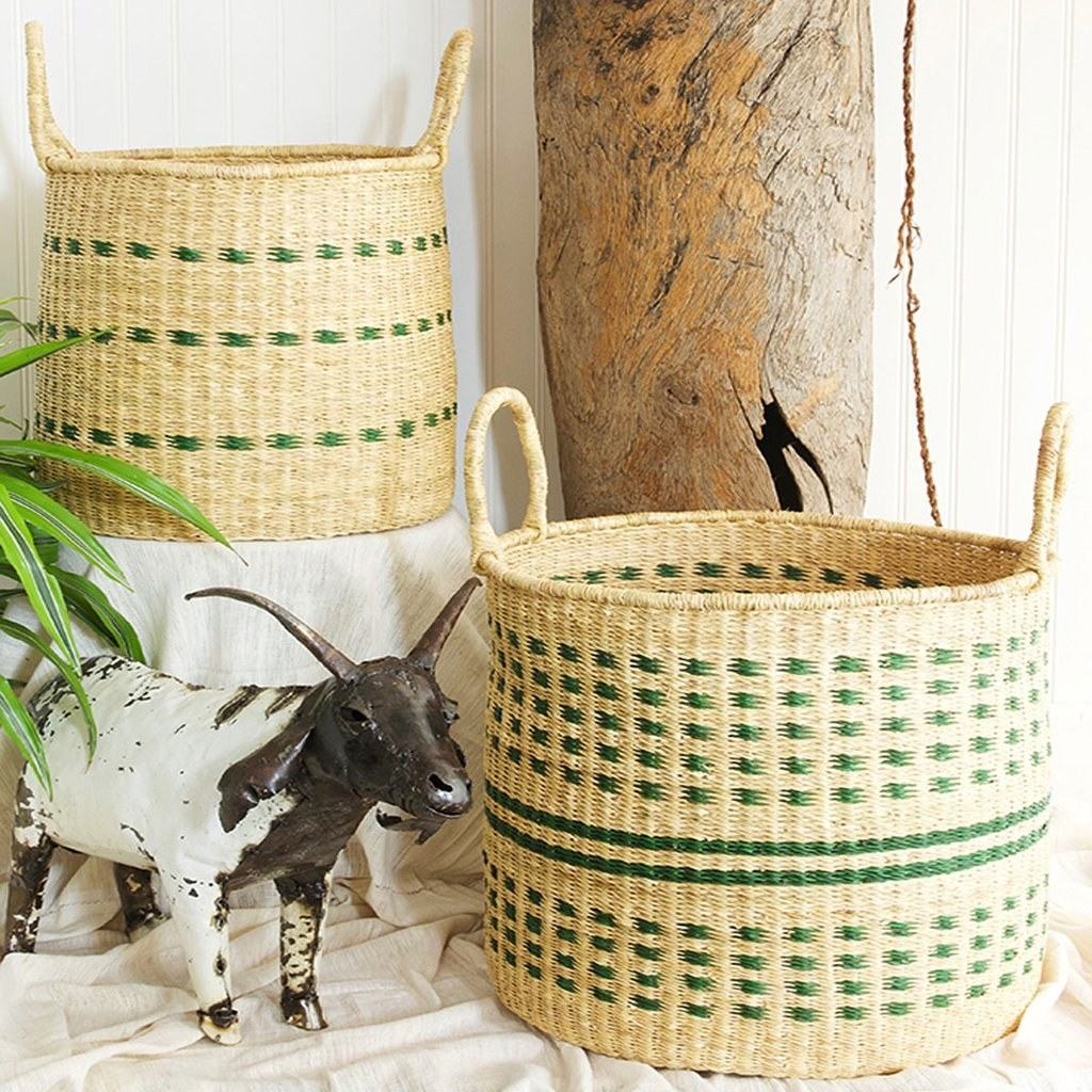 The two baskets, which have slightly different patterns
