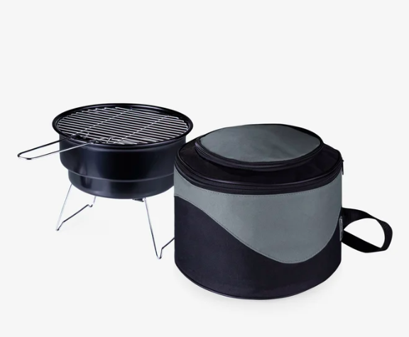 small grill and case
