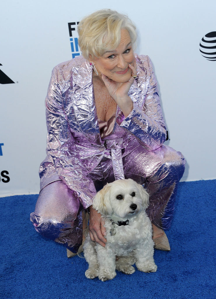 Glenn Close with her dog, Pip
