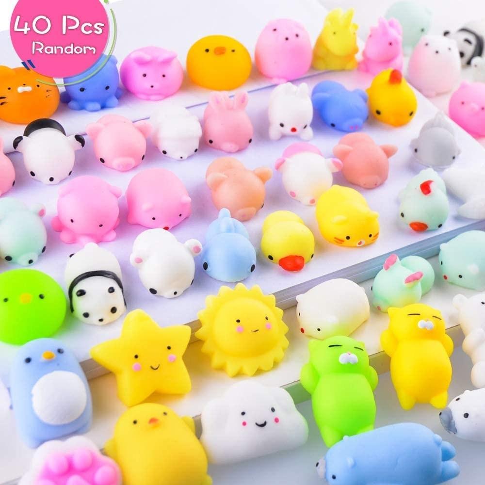 variety of squishy toys