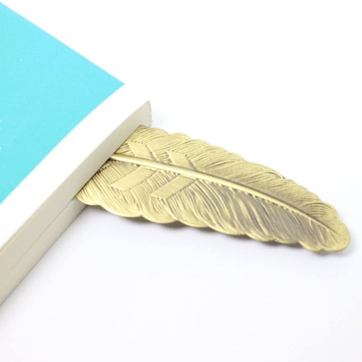 bookmark sticking out of a book