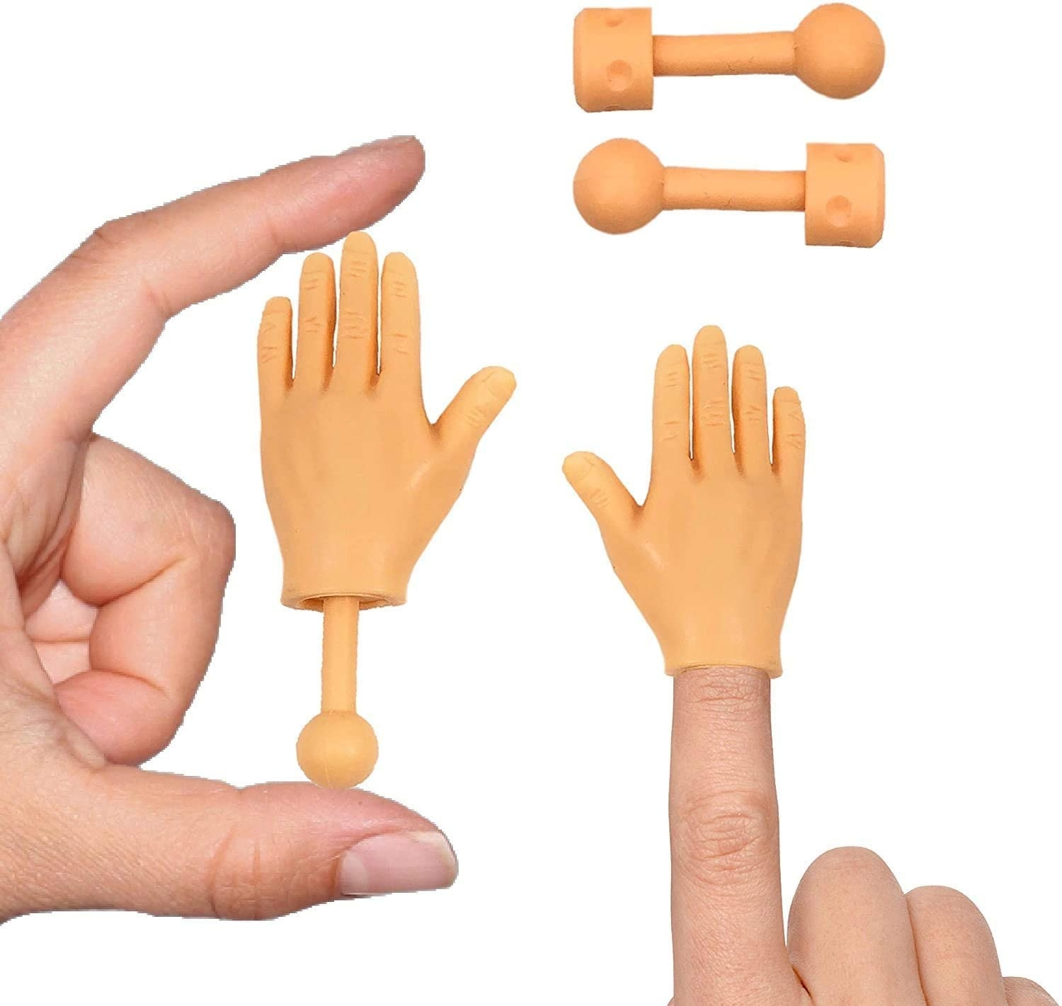 small fake hands you can put on your fingertips
