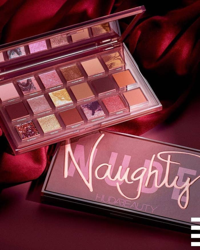 """The shimmering eyeshadow palette with label """"Naughty Nude"""""""