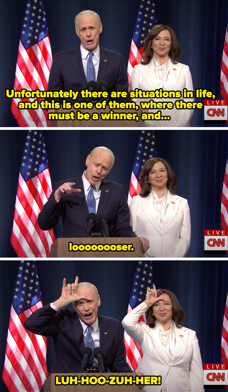 Biden calling Trump a loser
