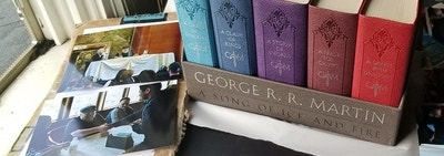 leather-bound game of thrones books