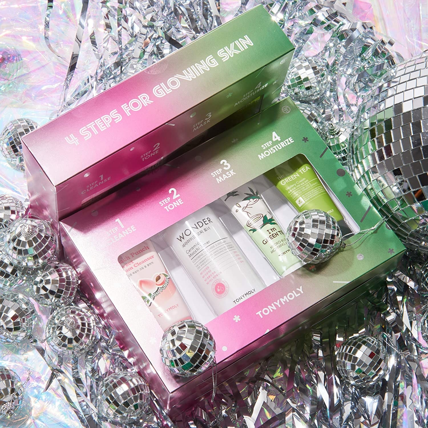 The skincare set in an included gift box