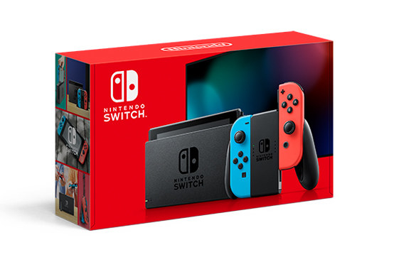 Nintendo Switch box isolated on a white background