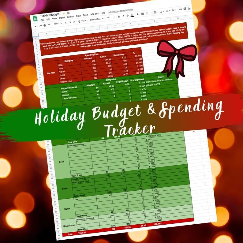 spreadsheet in red and green
