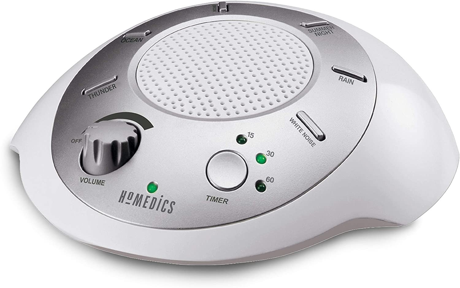 White noise machine isolated on a white background