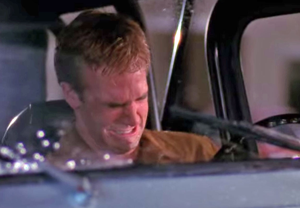 Dawson crying in his car