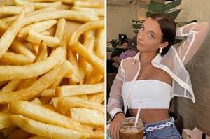 fries and emma chamberlain