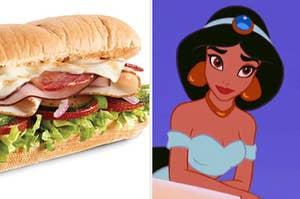 Subway sandwich and jasmin