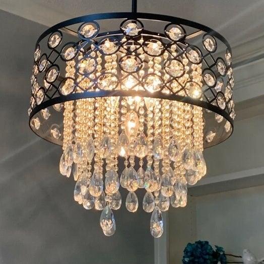 The black chandelier