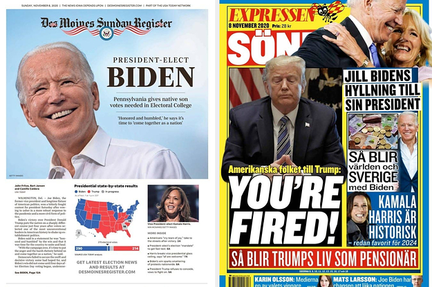 Here's How Newspapers Across The US And Around The World Covered Biden's Win (And Trump's Loss)