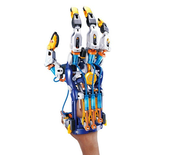 The finished cyborg hand after built