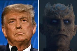 Donald Trump and Night King from Game of Thrones