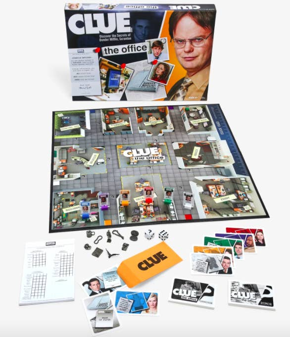 Clue: the office edition board game and pieces