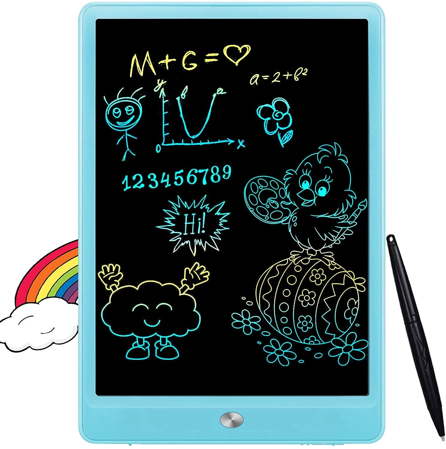 A LCD tablet that acts as a scribble pad for kids to draw on.