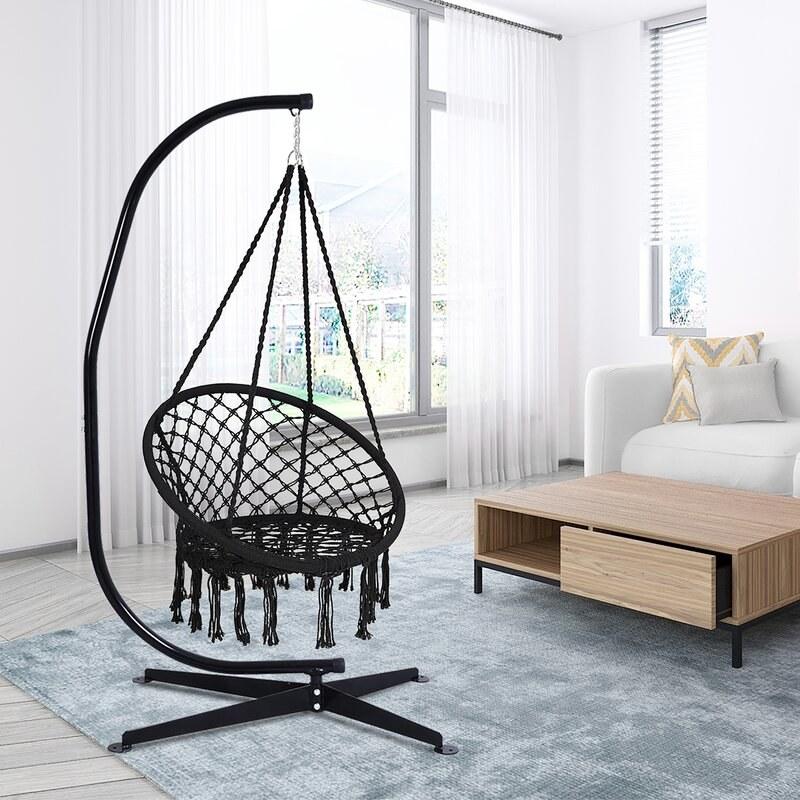 black swing in room