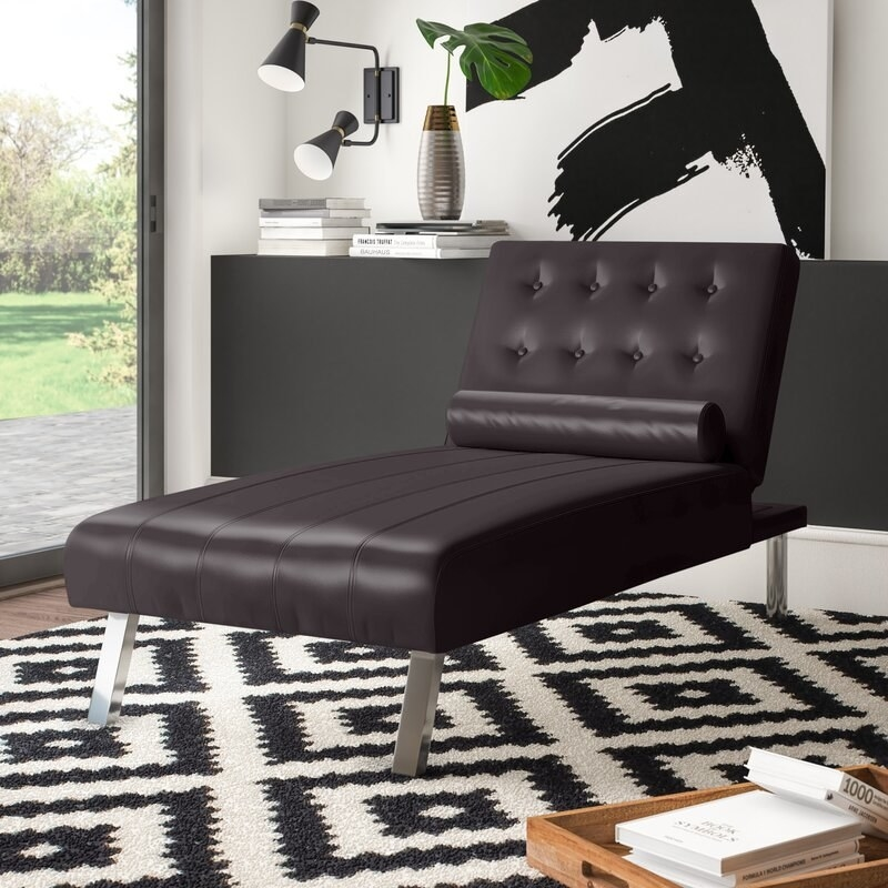 brown lounging chair