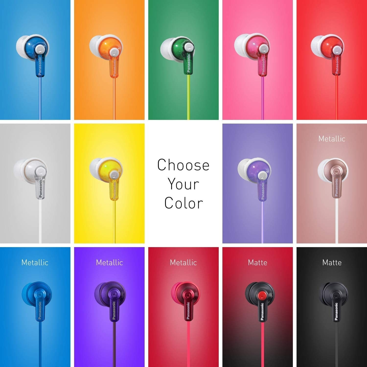 the headphones shown in many colors