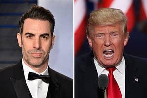 Sacha Baron Cohen and Donald Trump