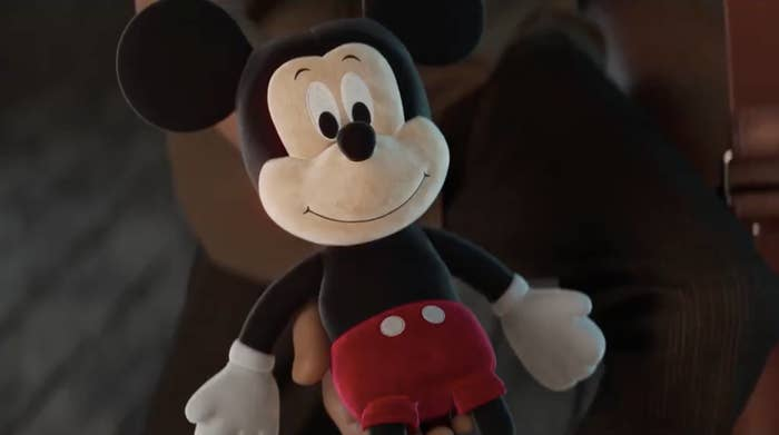 Vintage Mickey Mouse doll in the ad