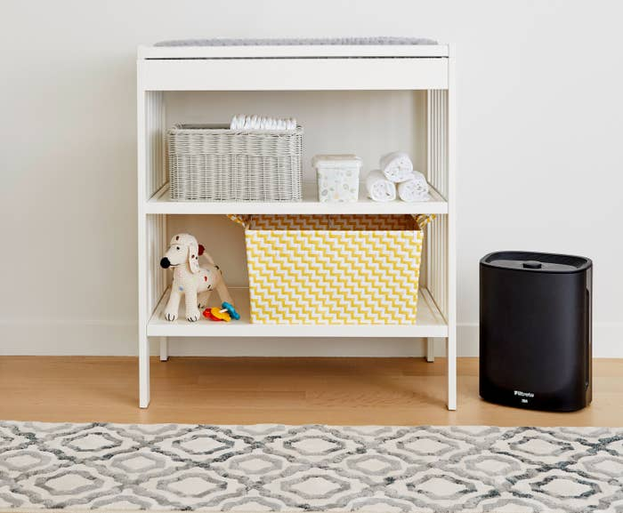 The air purifier in a child's bedroom
