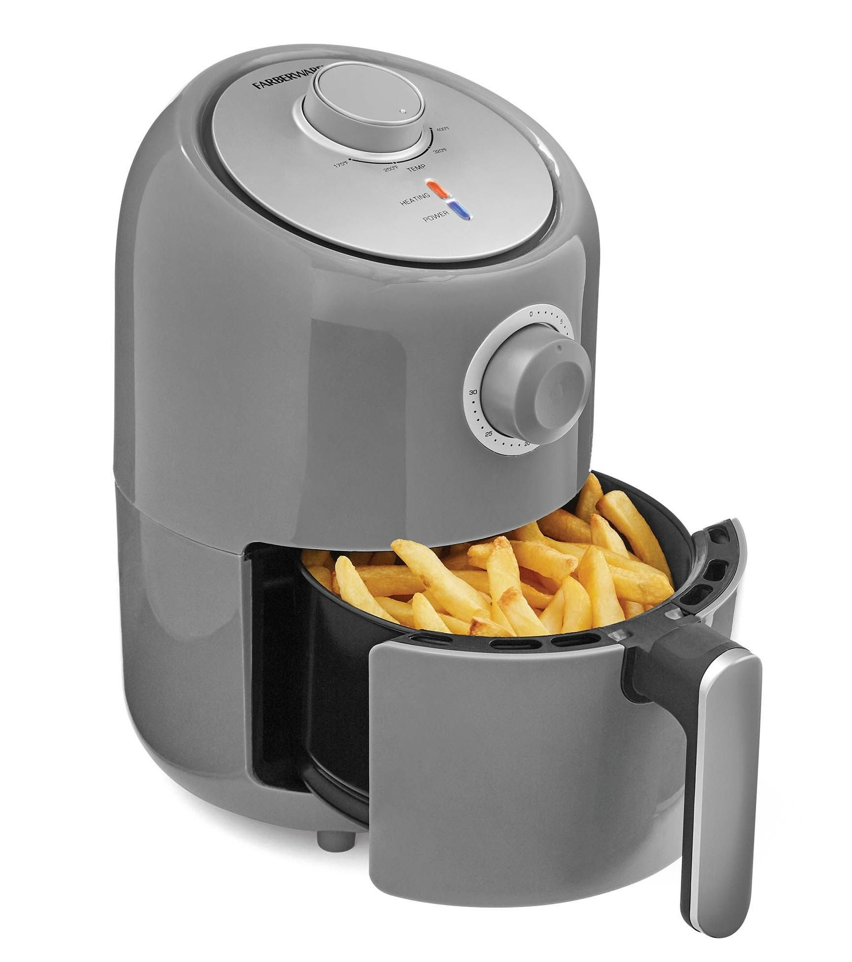 The air fryer in gray