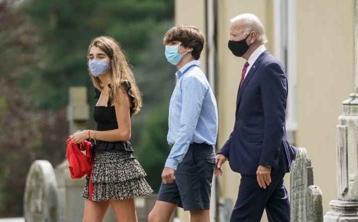 Natalie, Hunter II, and Joe Biden