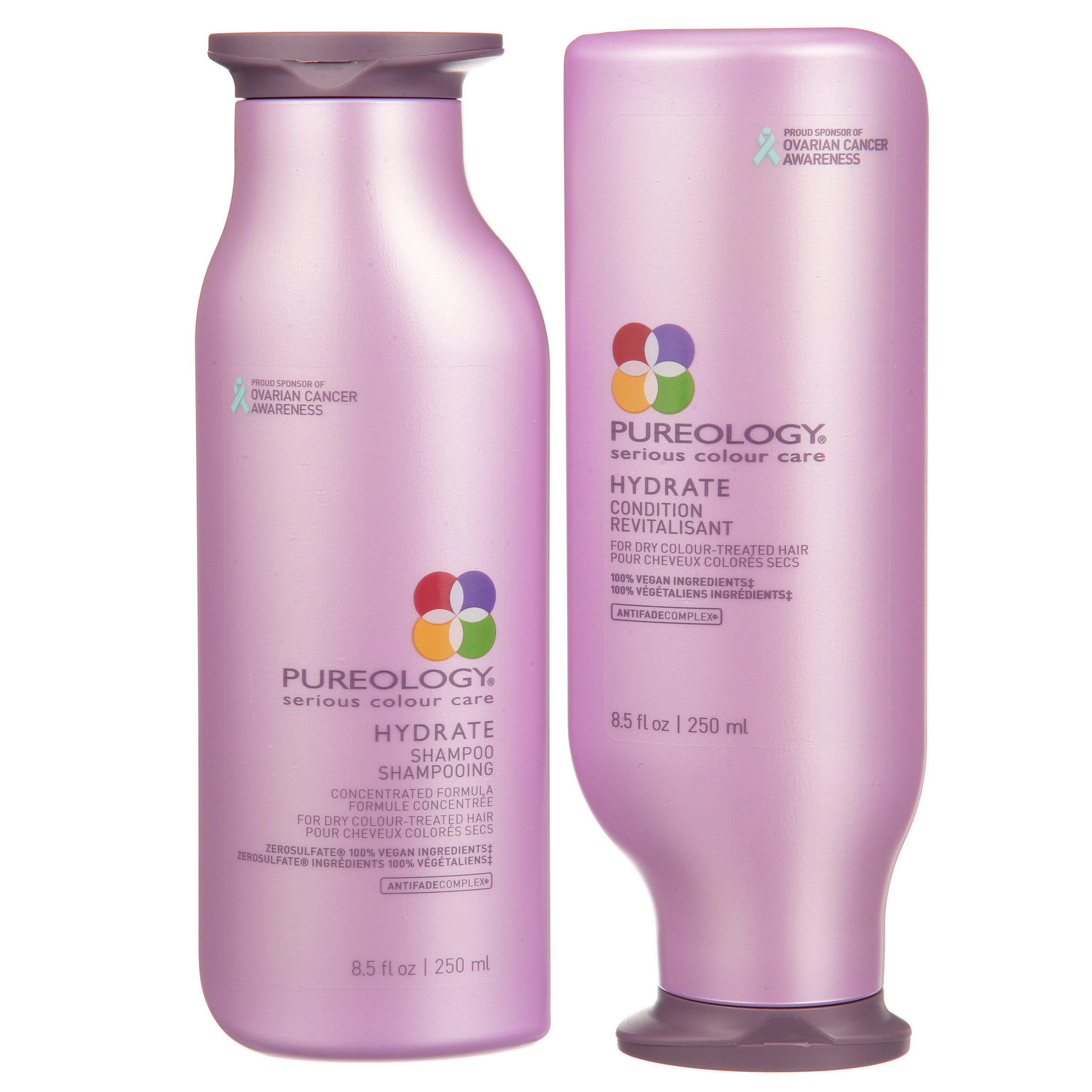 The shampoo and conditioner