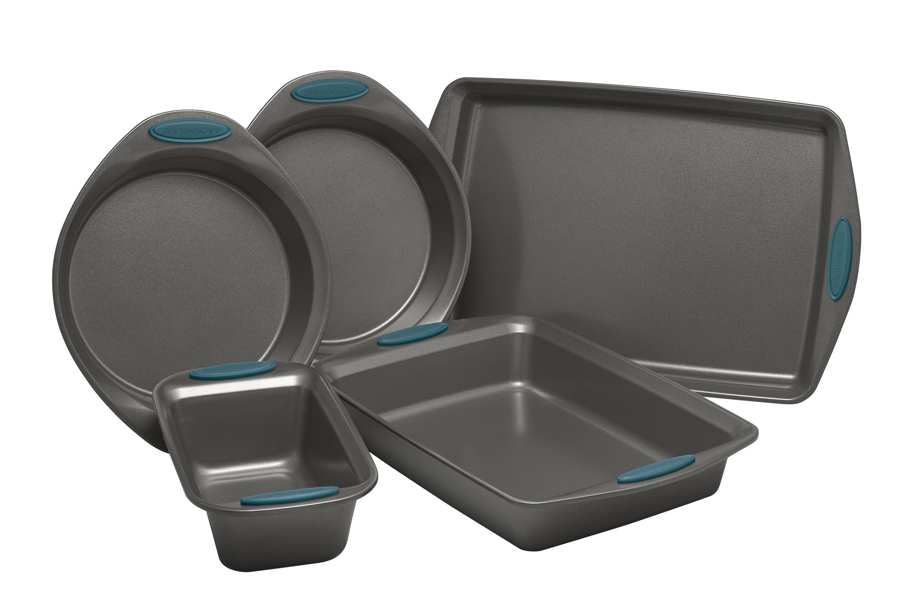 The baking set with blue finishes