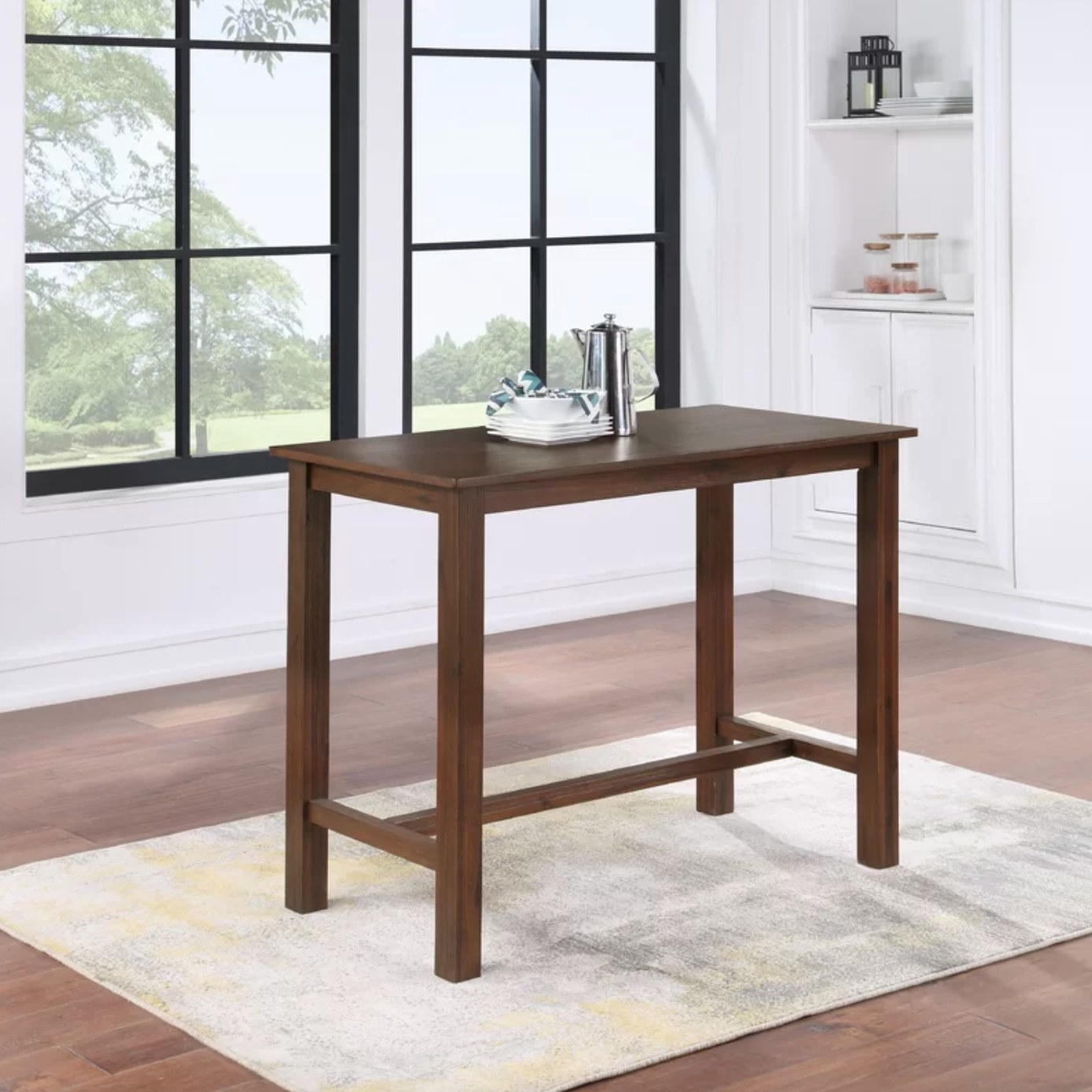 The counter height table in Chestnut Wire-Brush