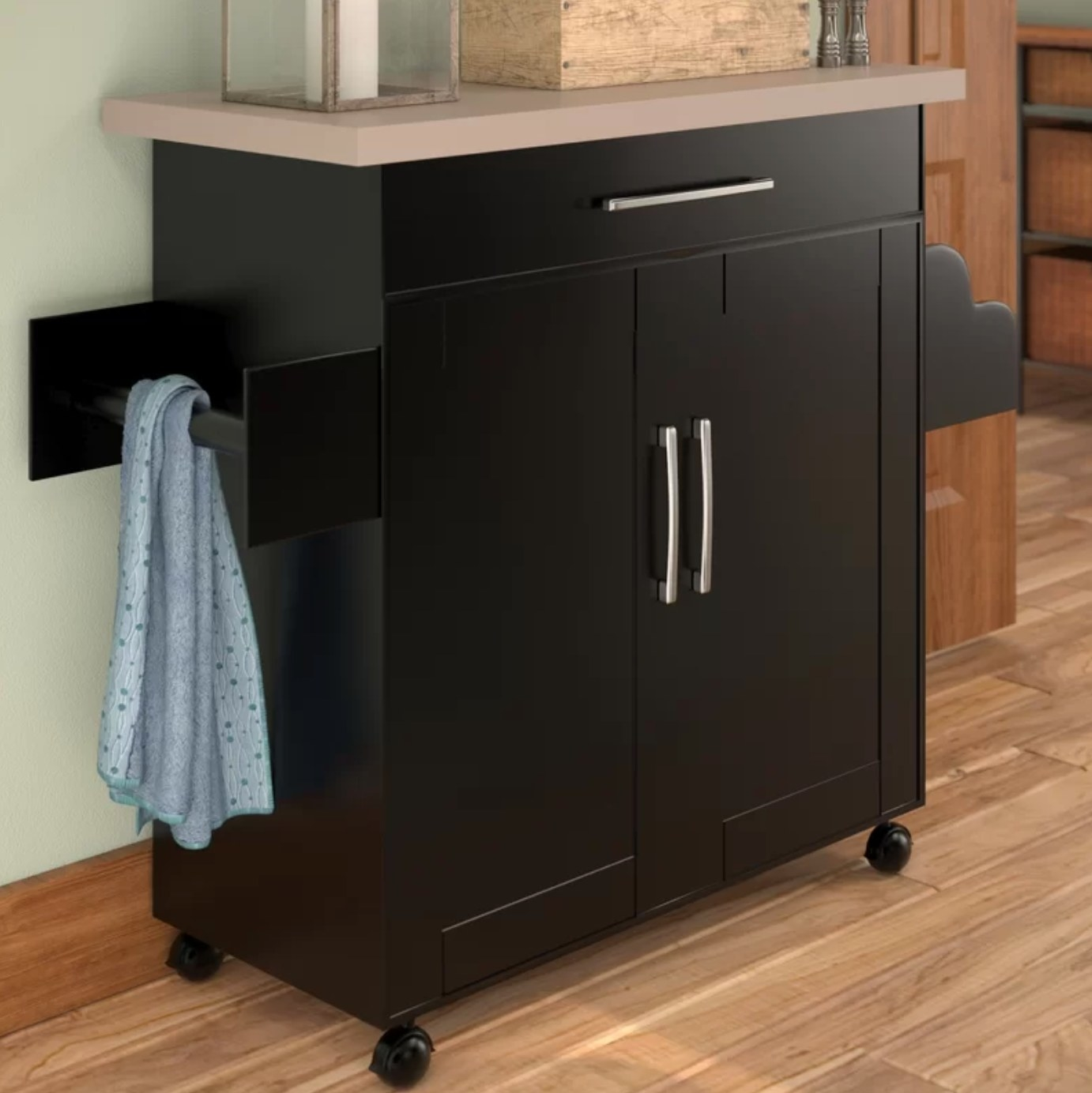 The kitchen cart in chocolate-gray