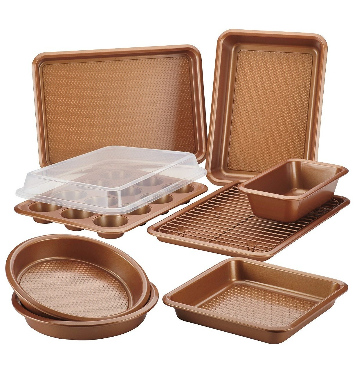 the full Ayesha Curry 10 piece bakeware set