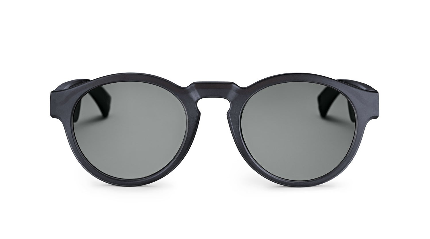 The gray rounded sunglasses