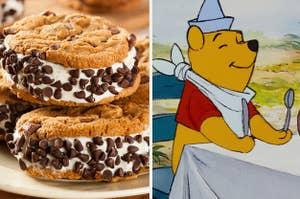 """冰淇淋夹心巧克力芯片;小熊维尼从""""小熊维尼历险记"""""""