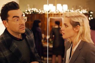 Kristen Stewart and Dan Levy in