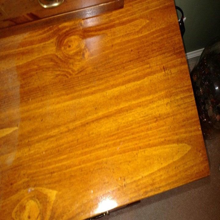 Shiny wood surface