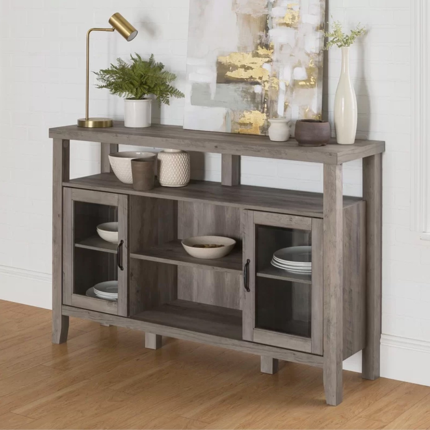 The sideboard in gray wash