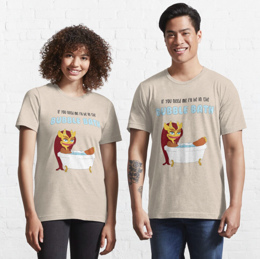 Two models wear the bubble bath connie the hormone monstress t-shirt