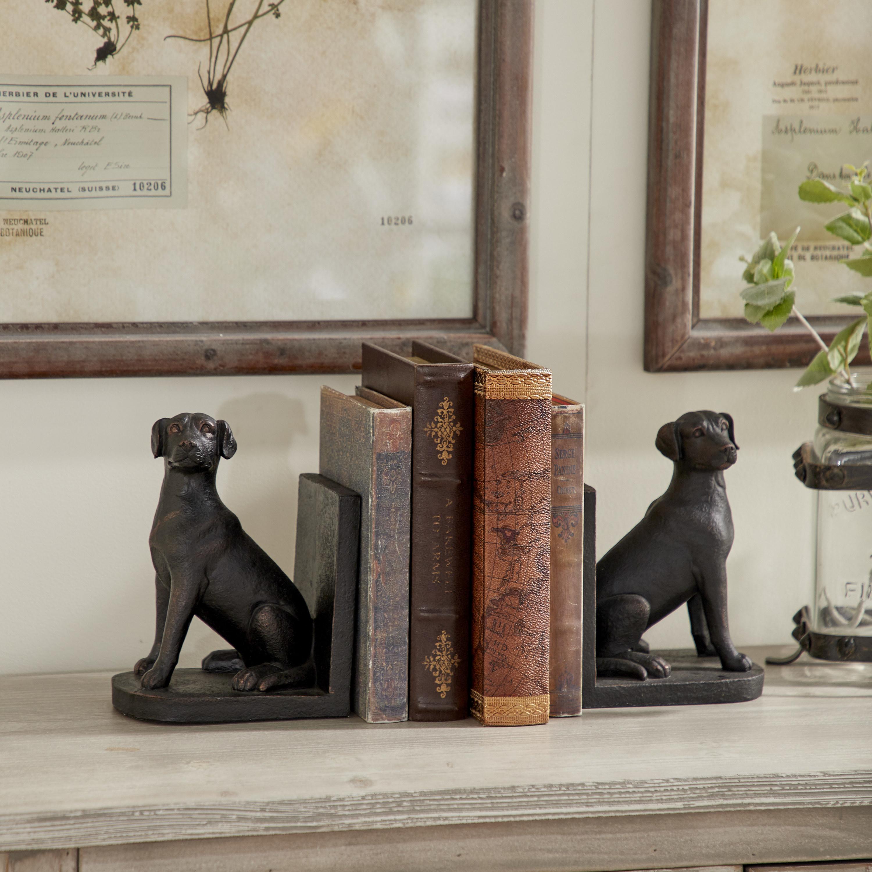 Labrador shaped bookends