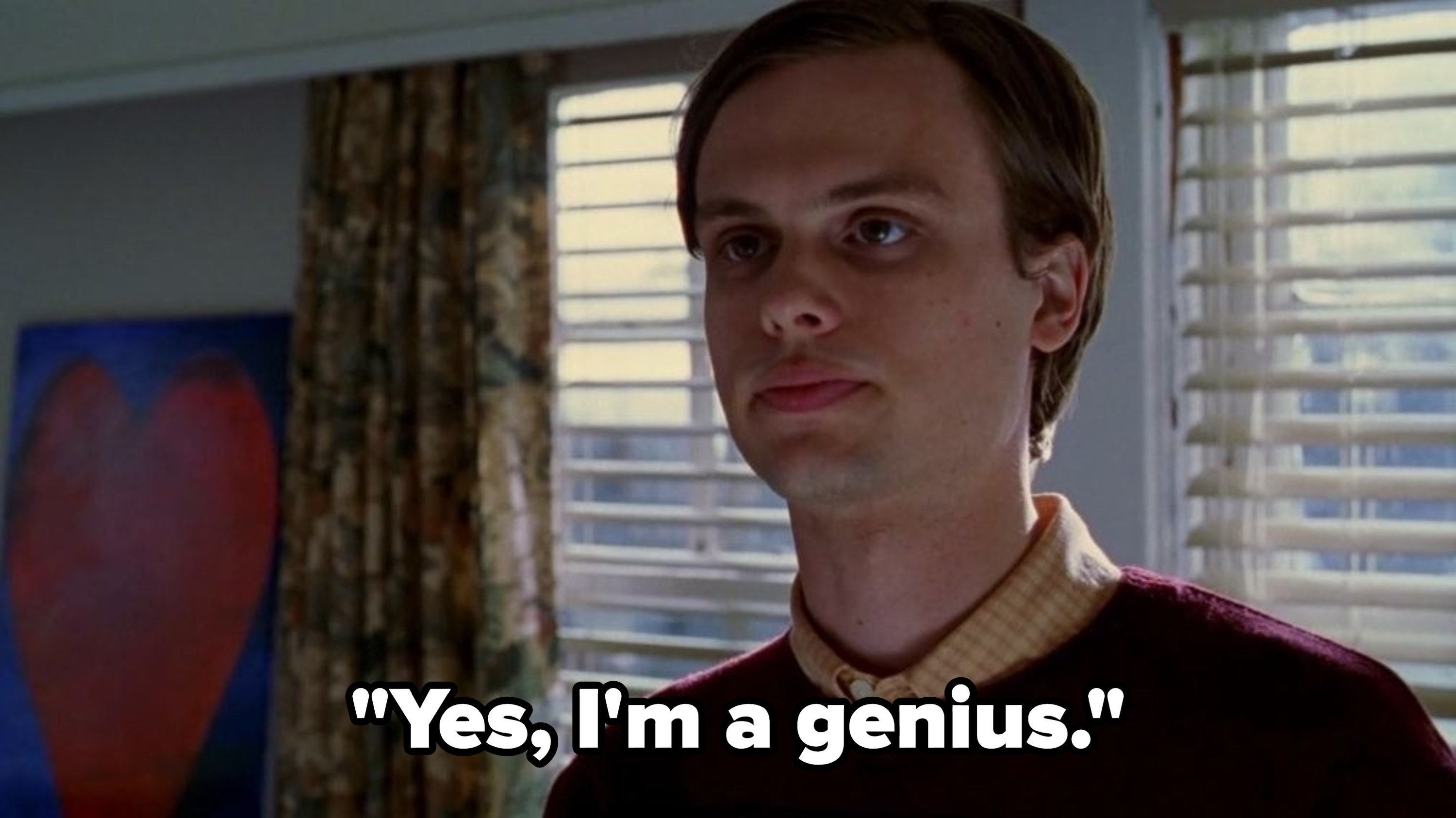 Spencer saying that he's a genius.