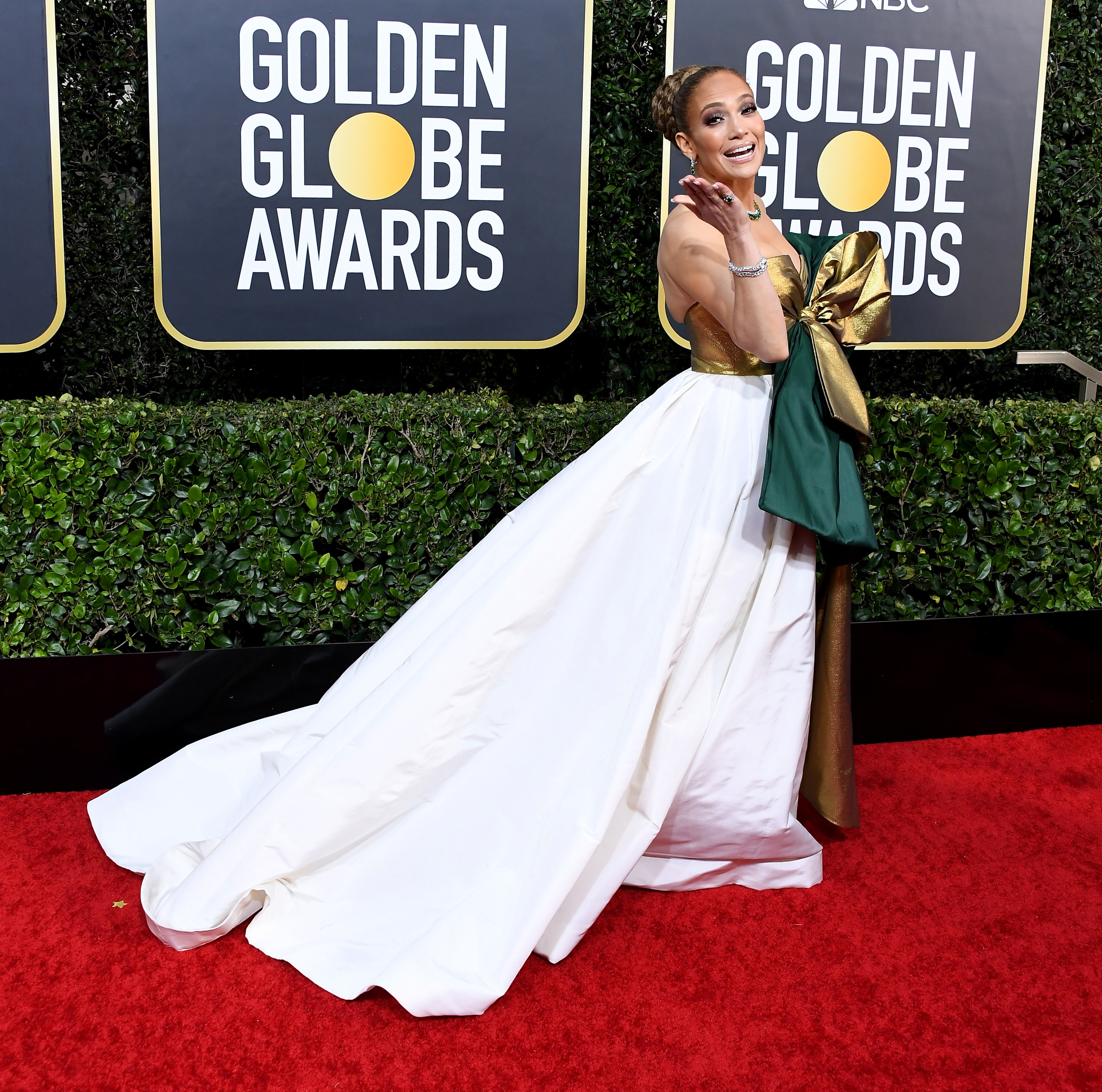 Jennifer Lopez arrives at the 77th Annual Golden Globe Awards attends the 77th Annual Golden Globe Awards at The Beverly Hilton Hotel on January 05, 2020 in Beverly Hills, California.