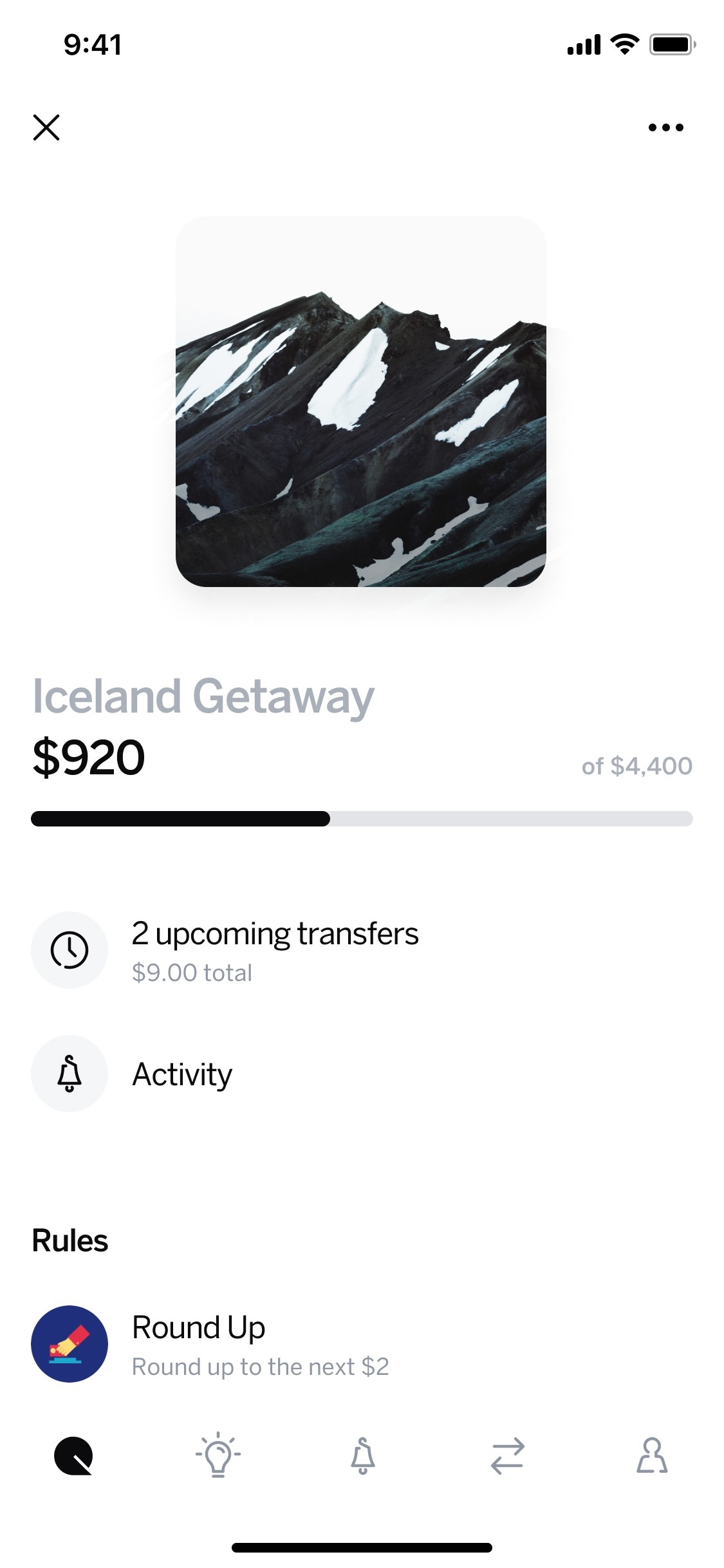 Qapital screenshot showing how it can help you save more money
