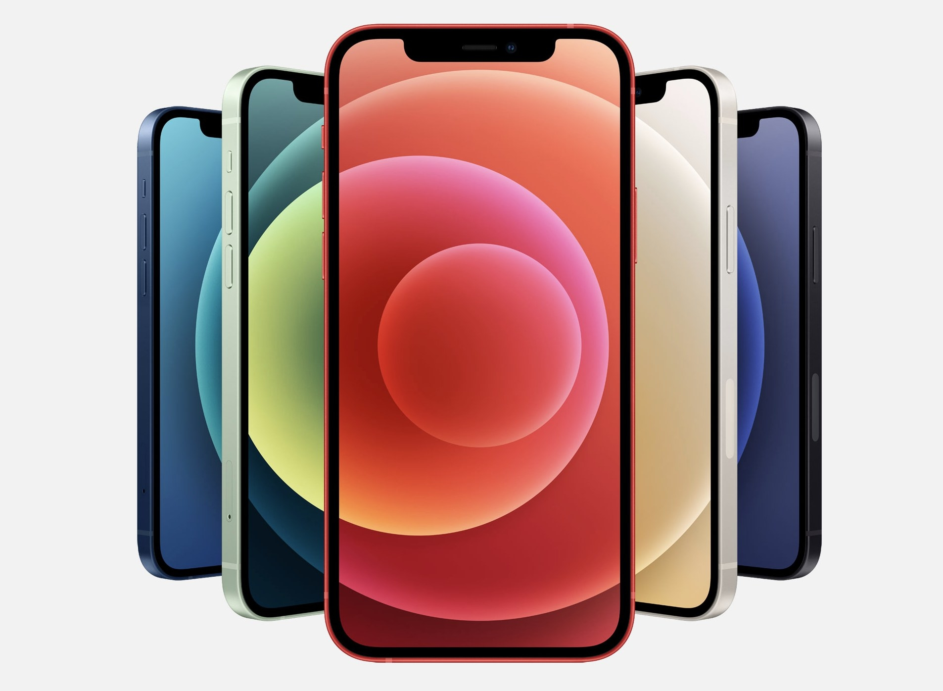 The iPhone 12 Pro in a variety of colors
