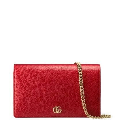 Petite Leather Wallet on a Chain GUCCI