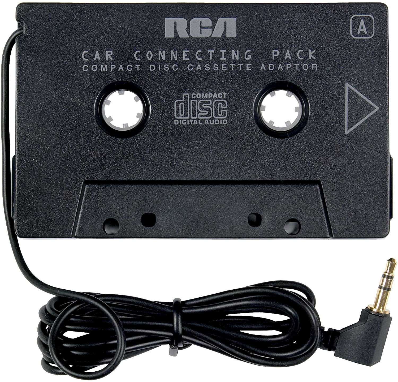 A black RCA cassette adaptor