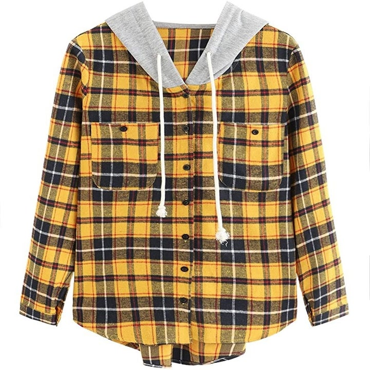 the hoodie in yellow plaid